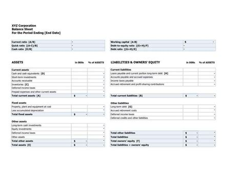 statement of assets and liabilities template free assets and liabilities spreadsheet template hynvyx
