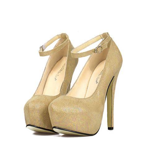 High Heels Gareu Shoes G 5111 ankle high platform thin heel wedding shoes black heels gold shoes