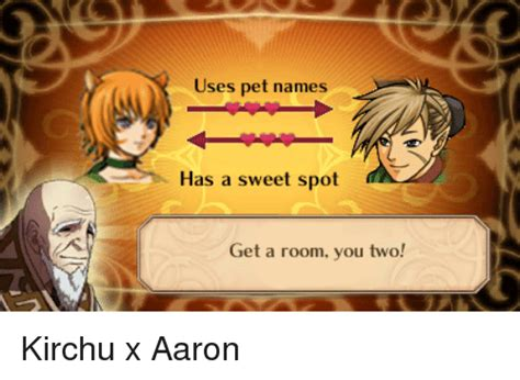 get a room you two ses pet names has a sweet spot get a room you two kirchu x aaron pets meme on sizzle