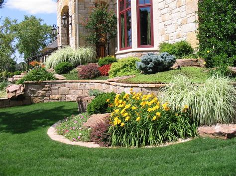 Landscape Design Zone 6 Beautiful Cobblestone Siding Sloped Landscaping And