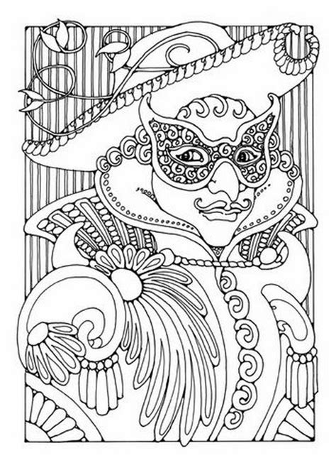 mardi gras coloring book a seasonal coloring book for grown ups books coloriage adulte carnaval masque et chapeau carnaval 3