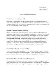 senior sem presentation script