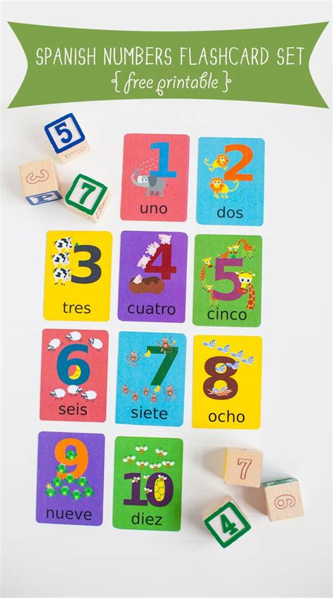 printable numbers flashcards 1000 ideas about spanish flashcards on pinterest