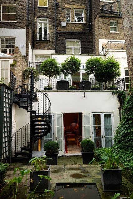 city backyard ideas annabel astor terraced house spiral stairs city small space garden design
