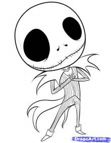 Skellington Coloring Pages how to draw chibi skellington step by step chibis