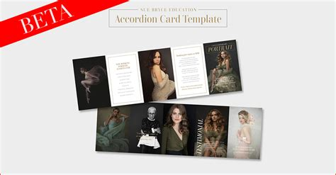 Millerslab Acccording Card Templates by Accordion Card Template Sue Bryce Education