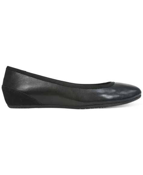 wedges flat shoes tahari aukland wedge flats in black lyst
