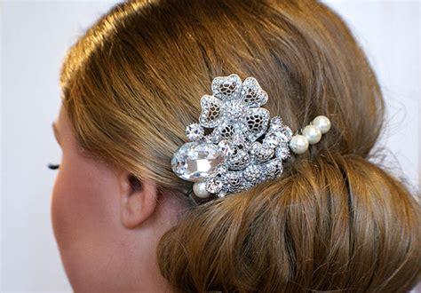 Handmade Hair Style - handmade bridal hair comb vintage style pearl