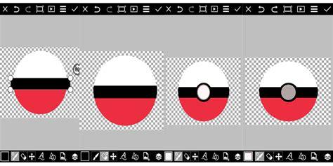 cara buat gambar format png tutorial picsart cara membuat gambar pokeball dengan