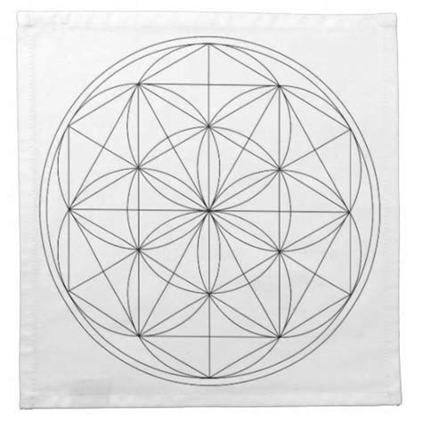 crystal grid cloth template cloth napkin zazzle