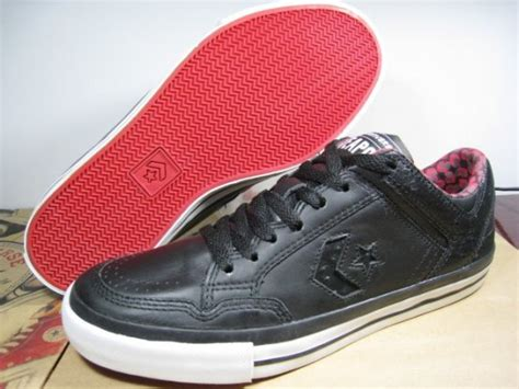 Converse Weapon Skate 1 0 Ox Black converse weapon skate ox black leather sneakernews