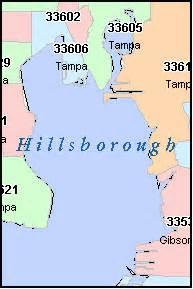 hillsborough county florida digital zip code map