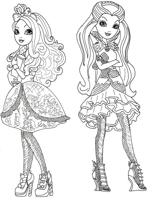 coloring pages ever after high raven queen free printable ever after high coloring pages june 2013
