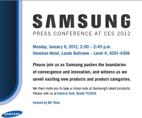 Press Conference Invitation Letter To Media Samsung Invites Media To See How They Re Pushing The Boundaries Of Innovation