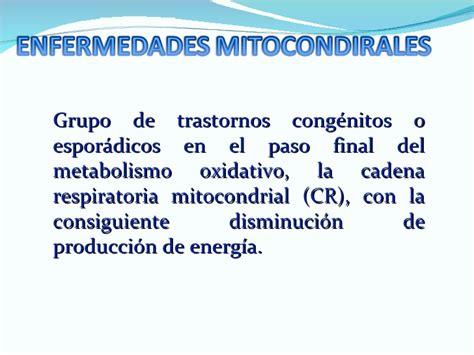 oscilacion espasmodica del globo ocular enfermedades mitocondriales