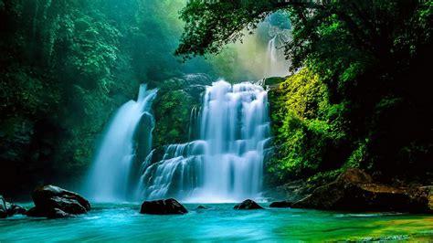 waterfall wallpaper for walls tropical waterfalls wallpaper wallpapersafari