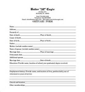 obituary template pdf blank obituary template 7 free word excel pdf format