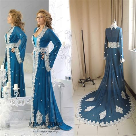 Dh 6592 Kaftan Blue arabic evening dresses dress yp