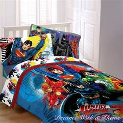 Batman Queen Comforter Justice League Dc Comic Heros Superman Batman Twin Single