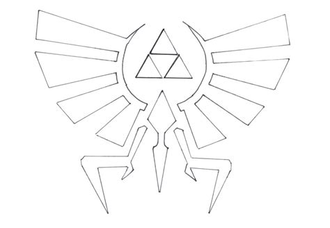zelda triforce coloring page how to draw triforce