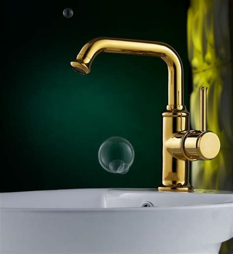 luxury polished brass bathroom faucet with single handle