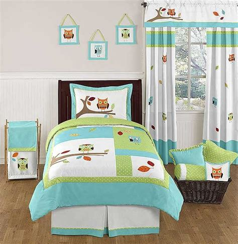 owl twin bed set hooty the owl bedding set 4 piece twin size by sweet