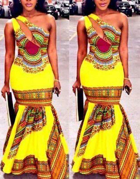 ethnic fishtail pics quot asia quot ethnic printed one shoulder fishtail maxi dress