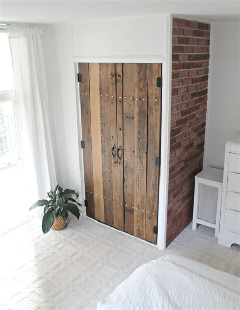 the closet door diy reclaimed wood closet doors the definery co