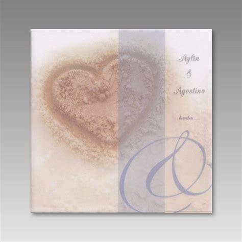 Einladung Hochzeit Herz by Einladung Zur Hochzeit Mit Einem Herz Im Sand