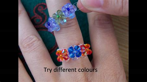 how to make a beaded ring beaded ring step by step tutorial