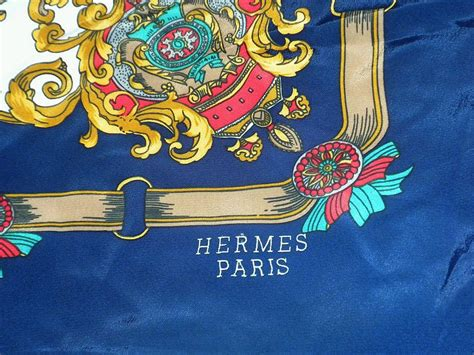 French Country House Designs by Vintage Silk Scarf Marked Hermes Paris From Rlreproshop On