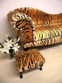 tiger print sofa tiger animal print chaise lounge double ended sofa animal