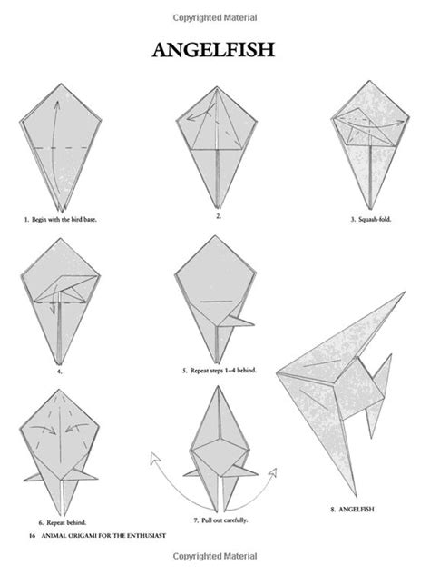 Origami Fish Step By Step - animal origami for the enthusiast step by
