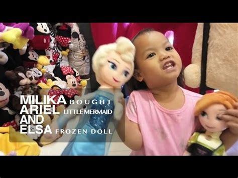 Boneka Frozen Doll Fancy milika bought ariel mermaid and elsa frozen doll at istana boneka doll castle