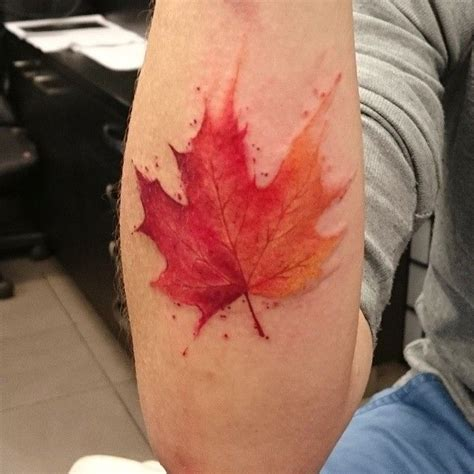 watercolor tattoo leaves awesome autumn leaf for tonight watercolor