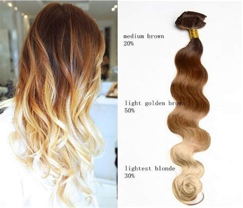 brown and blonde ombre with a line hair cut 6a european virgin ombre hair weave medium brown golden