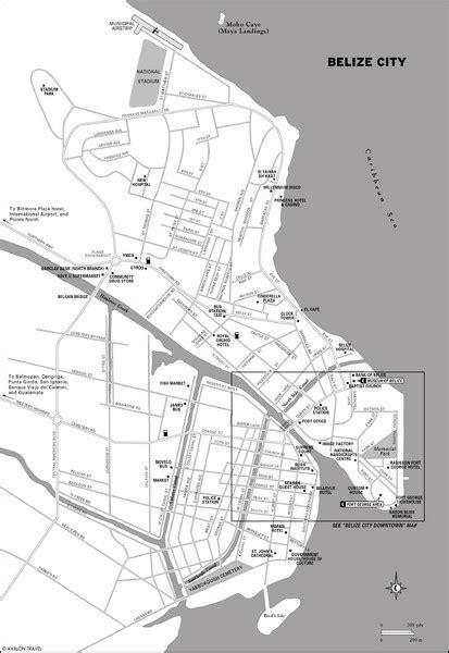 tourist map of belize belize city map belize city mappery