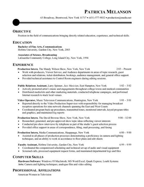 chronological resume sle recentresumes com