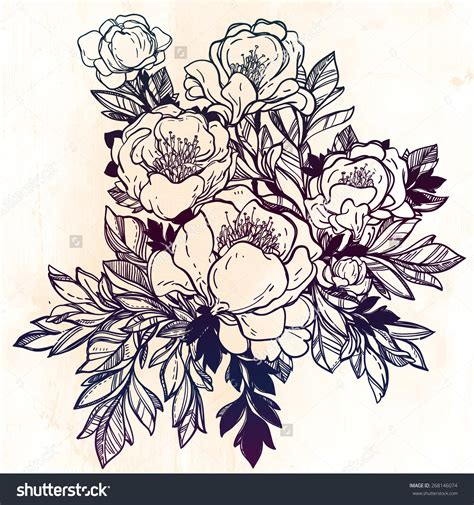 vintage floral tattoo designs line drawings of vintage flowers www pixshark
