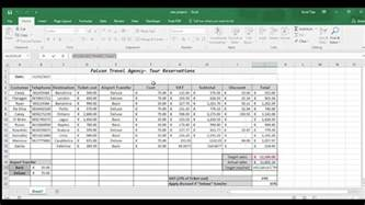 c excel template exle excel exle of travel agency spreadsheet