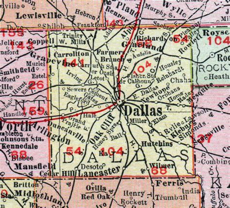dfw county map dallas county 1911 map rand mcnally garland