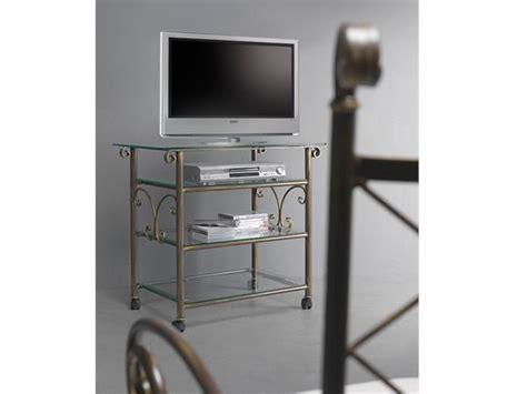 porta tv in ferro battuto porta tv apollo angoliere etageri e carrelli in ferro