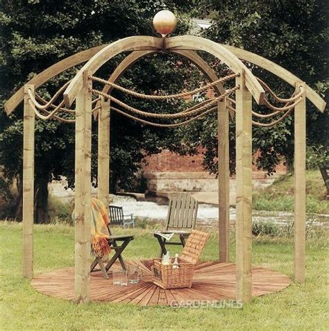 circular pergola perfect for watching the night sky on a