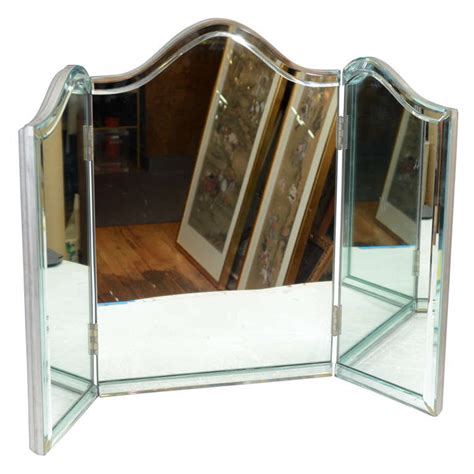 tri fold bathroom vanity mirrors vintage hollywood regency tri fold vanity mirror at 1stdibs