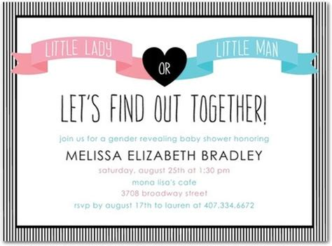 gender reveal invitation sle invitations online