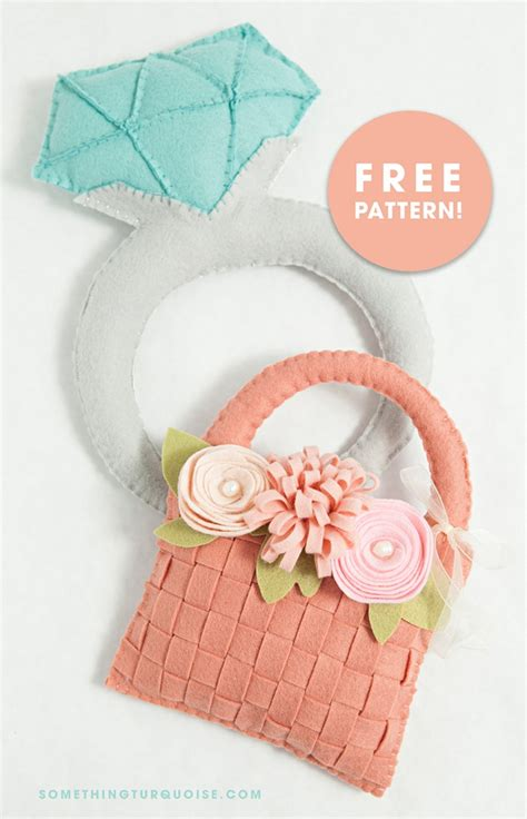 pattern flower girl basket awesome diy giant felt diamond ring for your ring bearer