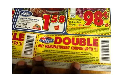 does price chopper always double coupons
