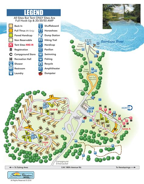 florida state parks map rainbow springs state park cing in florida mobilerving