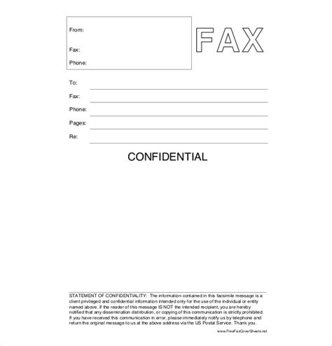 printable fax cover sheet with confidentiality statement 12 confidential cover sheet templates free sle