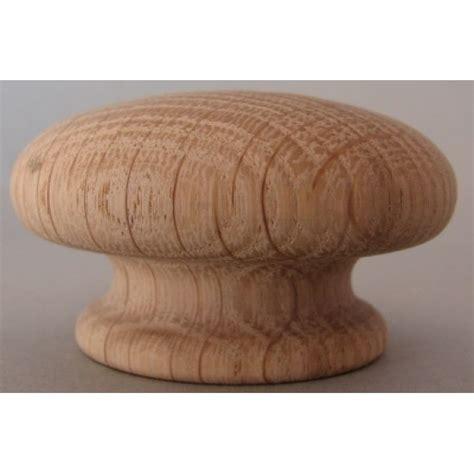 Oak Knobs by Knob Style R 60mm Oak Sanded Wooden Knob